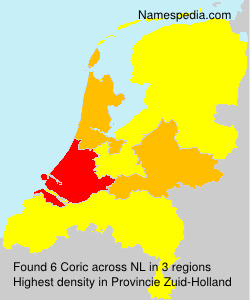 Familiennamen Coric - Netherlands