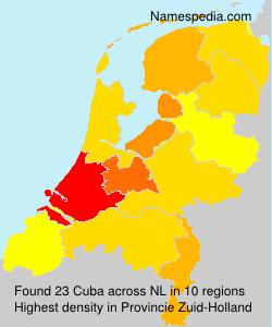 Surname Cuba in Netherlands