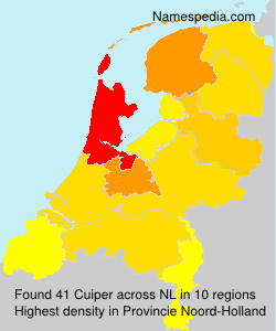 Familiennamen Cuiper - Netherlands