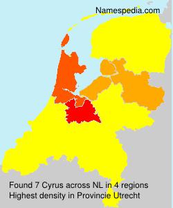Familiennamen Cyrus - Netherlands