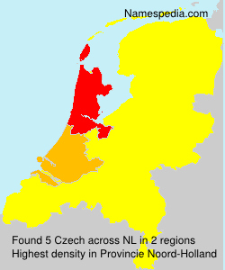 Surname Czech in Netherlands