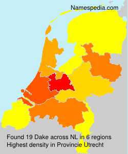 Surname Dake in Netherlands