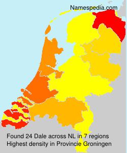 Surname Dale in Netherlands