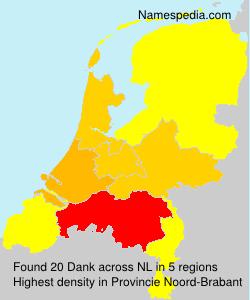 Surname Dank in Netherlands