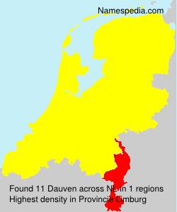 Surname Dauven in Netherlands