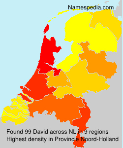 Surname David in Netherlands