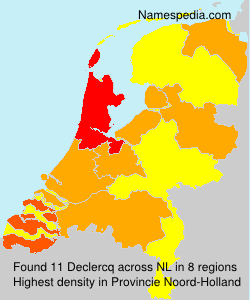 Surname Declercq in Netherlands