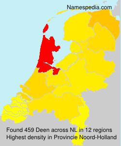 Surname Deen in Netherlands