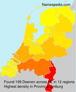 Surname Deenen in Netherlands