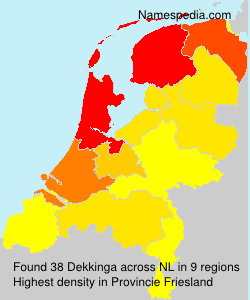 Surname Dekkinga in Netherlands