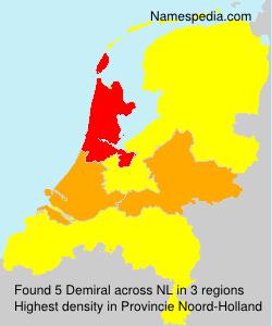 Surname Demiral in Netherlands