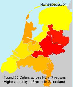 Surname Deters in Netherlands