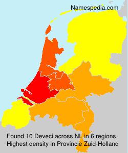 Familiennamen Deveci - Netherlands