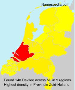 Familiennamen Devilee - Netherlands