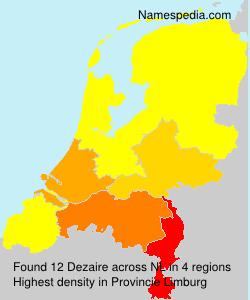 Surname Dezaire in Netherlands