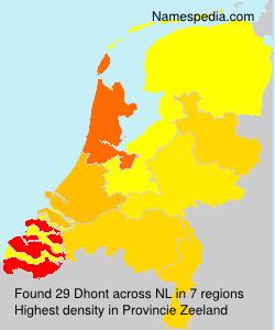 Surname Dhont in Netherlands