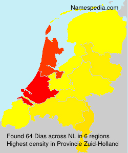 Surname Dias in Netherlands