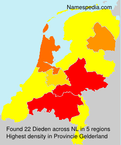 Surname Dieden in Netherlands
