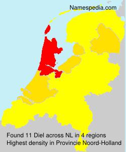 Surname Diel in Netherlands