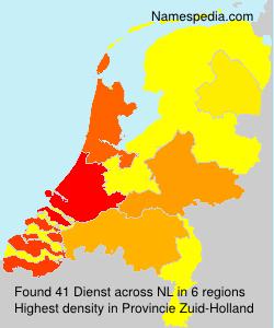Surname Dienst in Netherlands