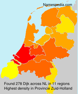 Surname Dijk in Netherlands