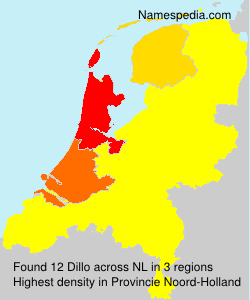 Surname Dillo in Netherlands