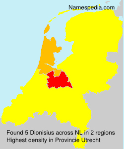 Surname Dionisius in Netherlands