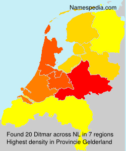 Surname Ditmar in Netherlands