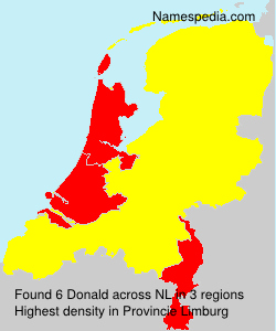 Surname Donald in Netherlands