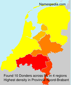 Surname Donders in Netherlands