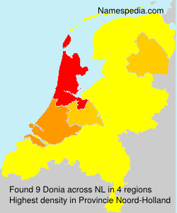 Surname Donia in Netherlands