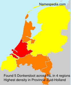Surname Donkersloot in Netherlands