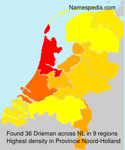 Surname Drieman in Netherlands