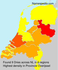 Surname Dries in Netherlands