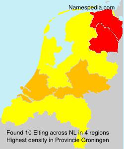 Surname Elting in Netherlands