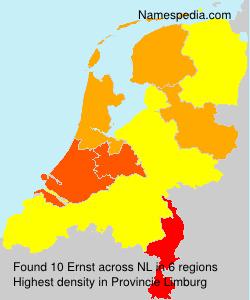 Familiennamen Ernst - Netherlands