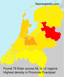 Surname Ester in Netherlands