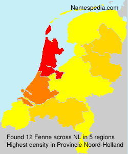 Surname Fenne in Netherlands
