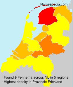 Surname Fennema in Netherlands