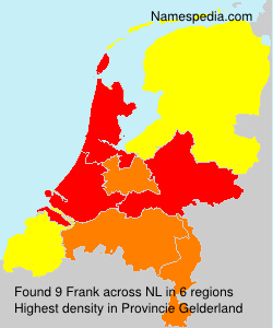 Familiennamen Frank - Netherlands