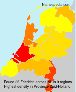 Surname Friedrich in Netherlands