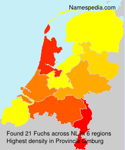Surname Fuchs in Netherlands