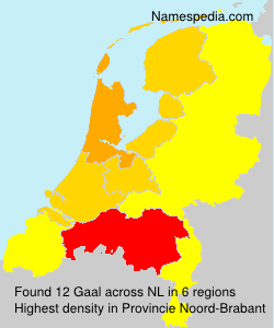 Familiennamen Gaal - Netherlands