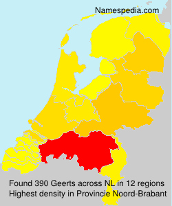Surname Geerts in Netherlands