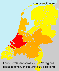 Surname Gent in Netherlands