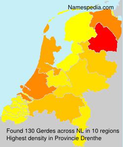 Familiennamen Gerdes - Netherlands
