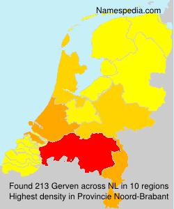 Surname Gerven in Netherlands