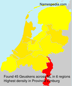 Familiennamen Geuskens - Netherlands