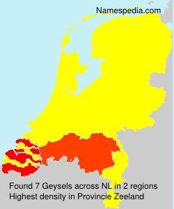 Familiennamen Geysels - Netherlands