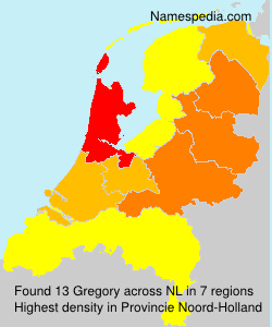 Surname Gregory in Netherlands